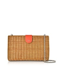 Rodo Handbags Linen Leather And Wicker Midollina Shoulder Bag