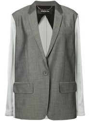 Barbara Bui Contrast Fitted Blazer Grey
