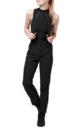 Women's Topshop 'Tyrian' Overall Ski Pants Black