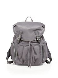 M Z Wallace Bedford Nylon Backpack Dark Grey