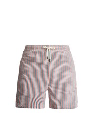 Solid And Striped Classic Stripe Print Swim Shorts Red Multi
