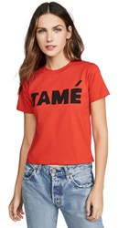 Etre Cecile Tame Inez T Shirt Flame Red