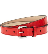 Karen Millen Skinny Patent Leather Belt Bright Orange