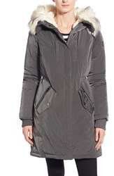 Women's Steve Madden Split Hood Down Parka With Faux Fur Trim
