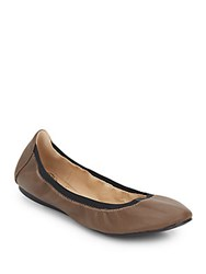 Vince Camuto Eliyah Leather Flats Beige