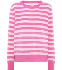 Jardin Des Orangers Striped Cashmere Sweater Pink