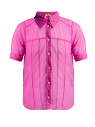N 21 Short Sleeved Organza Shirt Pink