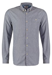Knowledge Cotton Apparel Slim Fit Shirt Limoges Blue