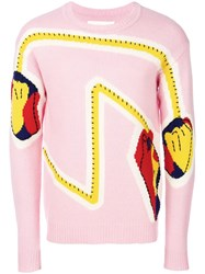 Henrik Vibskov Hands On Knit Jumper Pink And Purple