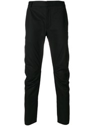 Lanvin Ruched Detail Trousers Cotton Black