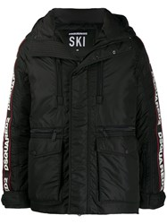 Dsquared2 Feather Down Jacket Black