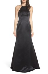 Hayley Paige Occasions 'S Satin A Line Gown Black
