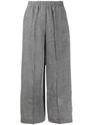 8Pm Pleated Wide Leg Trousers Grey