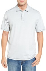 Tommy Bahama Men's Sorrento Cotton Blend Polo Concrete Grey