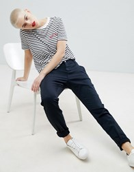 Selected Femme Slim Fit Chinos Navy