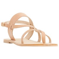 Dune Luccia Multi Strap Flat Sandals Tan