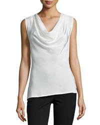Natori Lilibeth Cowl Neck Sleeveless Top Blanc