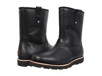 Ugg Stoneman Tl Black Leather Men's Pull On Boots