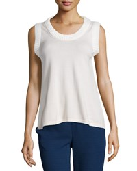 See By Chloe Sleeveless Scoop Neck Top Light Pink