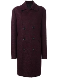 Etro Single Breasted Coat Red