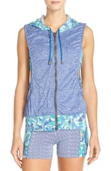 Women's Maaji 'Malibu Creek' Hoodie Vest And Sports Bra Navy
