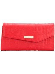Baldinini Logo Fold Over Wallet Red