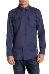 Burnside Solid Long Sleeve Shirt Blue