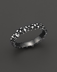 Roberto Coin Ruthenium Plated Sterling Silver Stingray Stackable Ring