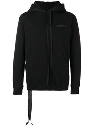 Unravel Project Graphic Knitted Hoodie Black