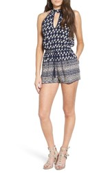 Band Of Gypsies Women's Keyhole Halter Romper