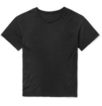 The Elder Statesman Cotton And Cashmere Blend T Shirt Charcoal