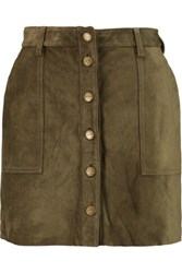 Current Elliott Naval Suede Mini Skirt Army Green