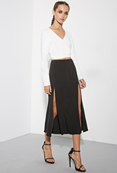 Forever 21 The Fifth Label Just For Now Midi Skirt Black