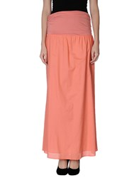 Blue Les Copains Skirts Long Skirts Women Salmon Pink