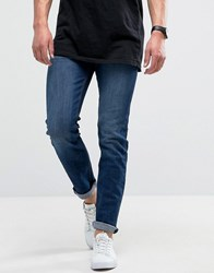 Loyalty And Faith Pillar Slim Stretch Jeans In Dark Wash Blue