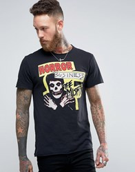 Pull And Bear Pullandbear T Shirt With The Misfits Print In Black Black