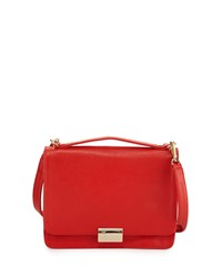 Taylor Leather Crossbody Bag Fire Red Lauren Merkin