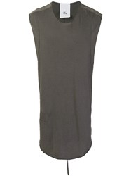 Lost And Found Rooms Oversized Vest Top Grey