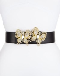 Deborah Drattell Butterflies Leather Belt Gold