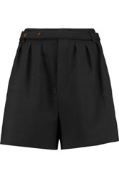 Marc By Marc Jacobs Pleated Twill Shorts Black