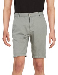 7 For All Mankind Solid Chino Shorts Grey