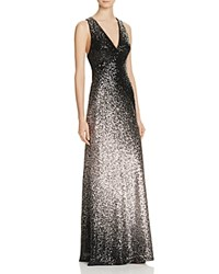 Avery G Ombre Sequin Gown Black Taupe