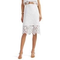 Manning Cartell Sea Gypsies Floral Lace Pencil Skirt White