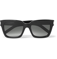 Saint Laurent Bold Square Frame Acetate Sunglasses Black