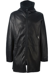 Dacute Hooded Zip Coat Black