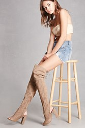 Forever 21 Faux Suede Thigh High Boots