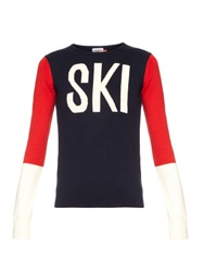 Perfect Moment Ski Intarsia Knit Wool Sweater