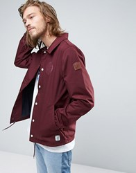 Element Murray Coach Jacket In Red Napa Red
