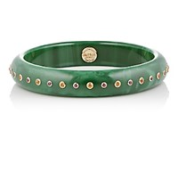 Mark Davis Women's Mixed Gemstone And Green Bakelite Bangle No Color