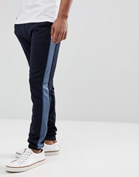 Farah Weatherall Tricot Joggers In Navy Navy